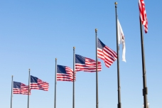 american flag on the pole