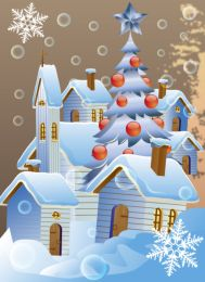 photo-24791672-christmas-poster-with-winter-houses-vector