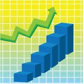 photo-24758778-vector-image-of-green-arrow-and-blue-bar-graph.